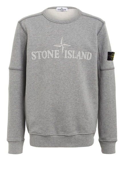 STONE ISLAND Sweatshirt, Farbe: HELLGRAU MELIERT (Bild 1)