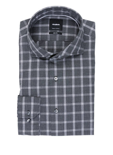strellson Hemd SERENO Slim Fit, Farbe: GRAU/ WEISS KARIERT (Bild 1)
