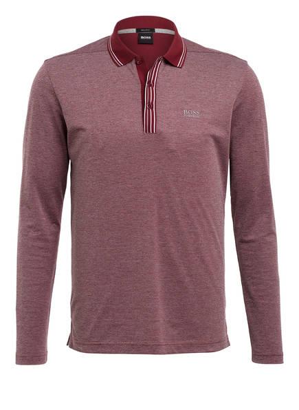 BOSS Piqué-Poloshirt PLISY Regular Fit, Farbe: DUNKELROT/ GRAU (Bild 1)