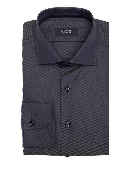 OLYMP SIGNATURE Hemd Tailored Fit, Farbe: DUNKELBLAU/ GELB (Bild 1)