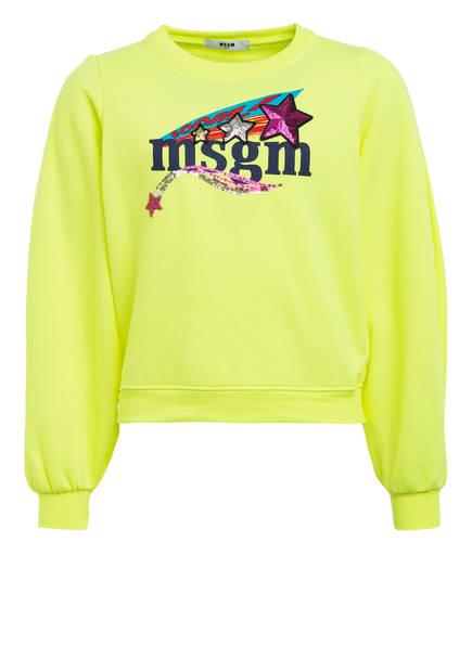 MSGM KIDS Sweatshirt, Farbe: NEONGELB (Bild 1)
