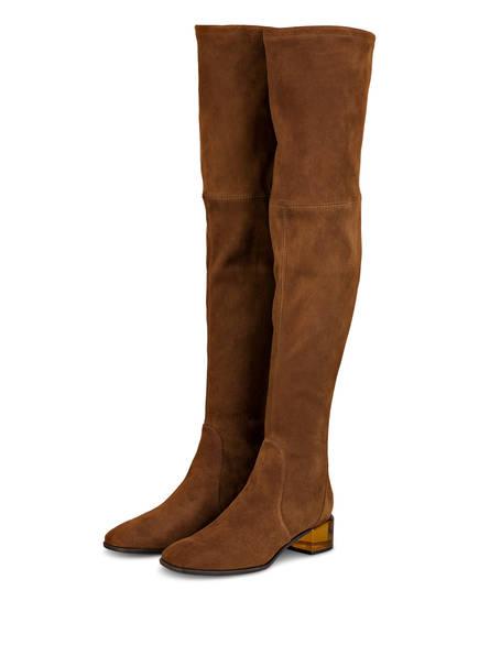 STUART WEITZMAN Overknee-Stiefel CHAROLET, Farbe: COGNAC (Bild 1)