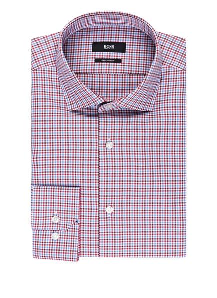 BOSS Hemd GORDON Regular Fit, Farbe: WEISS/ ROT/ HELLBLAU KARIERT (Bild 1)