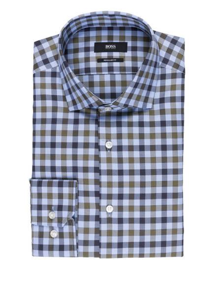 BOSS Hemd GORDON Regular Fit, Farbe: OLIVE/ HELLBLAU/ DUNKELBRAUN KARIERT (Bild 1)