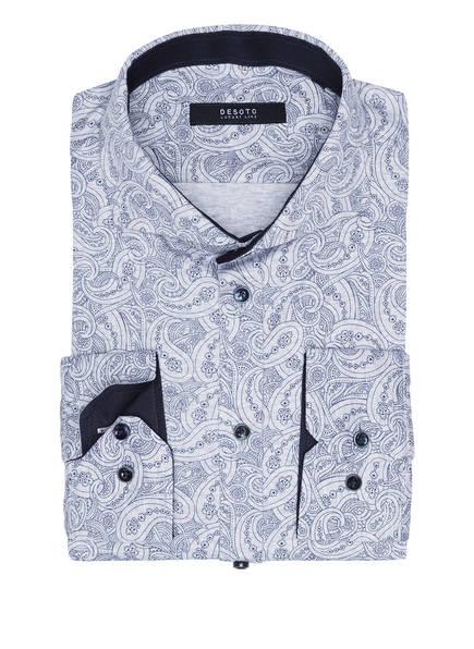 DESOTO Jerseyhemd Slim Fit, Farbe: HELLGRAU/ DUNKELBLAU (Bild 1)