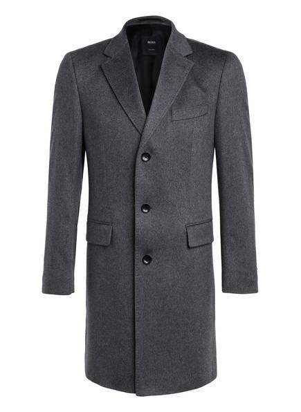 BOSS Cashmere-Mantel, Farbe: DUNKELGRAU MELIERT (Bild 1)