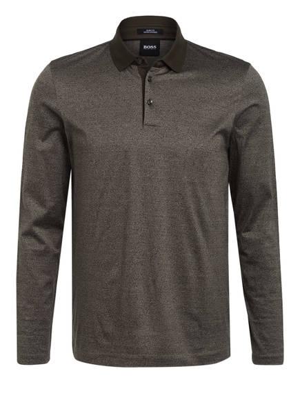 BOSS Jersey-Poloshirt PLEINS Slim Fit, Farbe: KHAKI MELIERT (Bild 1)