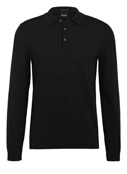BOSS Pullover mit Polokragen, Farbe: SCHWARZ (Bild 1)