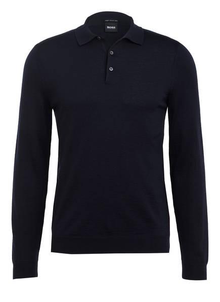 BOSS Schurwoll-Pullover , Farbe: DUNKELBLAU (Bild 1)