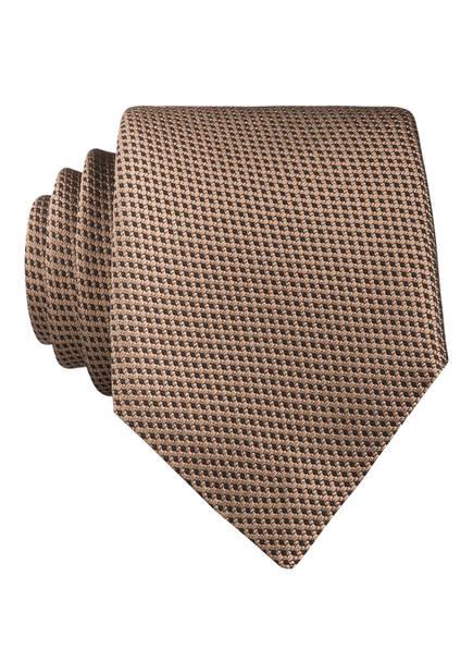 BOSS Krawatte, Farbe: HELLBRAUN/ SCHWARZ (Bild 1)