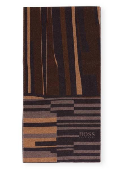BOSS Schal T-ASHER, Farbe: DUNKELBRAUN/ DUNKELBLAU/ CAMEL (Bild 1)