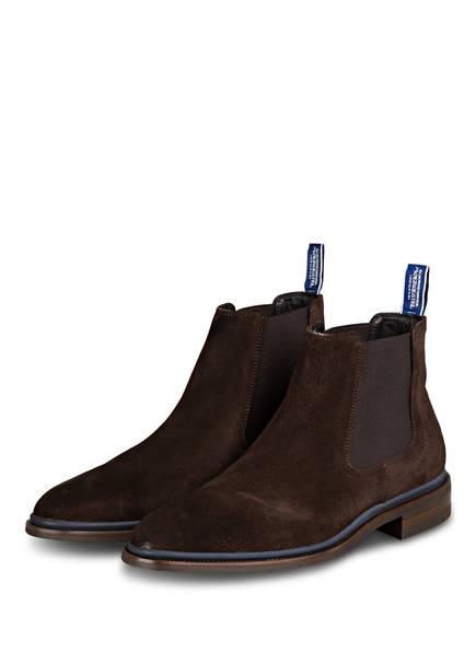 Floris van Bommel Chelsea-Boots, Farbe: DUNKELBRAUN (Bild 1)