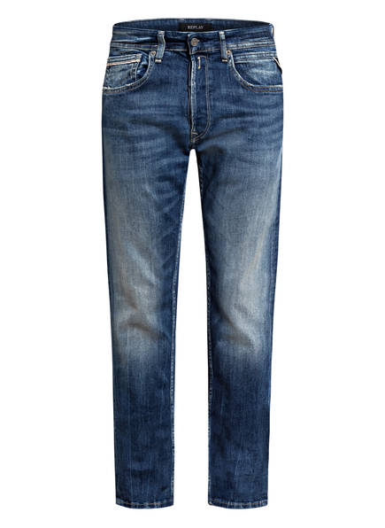 REPLAY Jeans GROVER Tapered Fit , Farbe: MEDIUM BLUE (Bild 1)