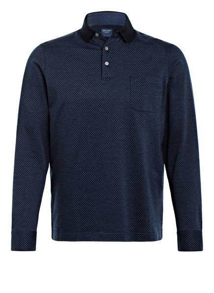 OLYMP Piqué-Poloshirt Modern Fit, Farbe: DUNKELBLAU (Bild 1)