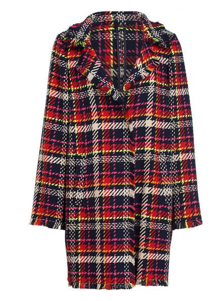 lilienfels Tweed-Mantel, Farbe: DUNKELBLAU/ ROT (Bild 1)