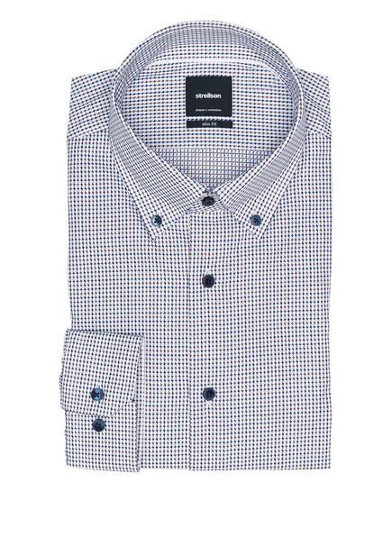 strellson Hemd SVENN Slim Fit, Farbe: WEISS/ DUNKELBLAU/ BRAUN (Bild 1)