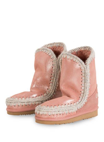 mou Boots mit Echtfellfutter, Farbe: HELLROSA/ SILBER (Bild 1)