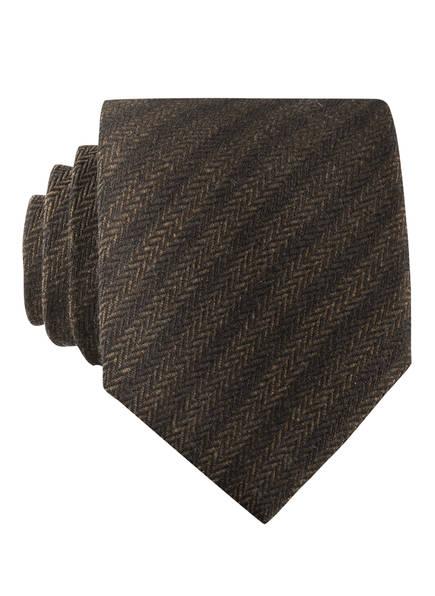 EDUARD DRESSLER Krawatte, Farbe: DUNKELBRAUN/ HELLBRAUN (Bild 1)