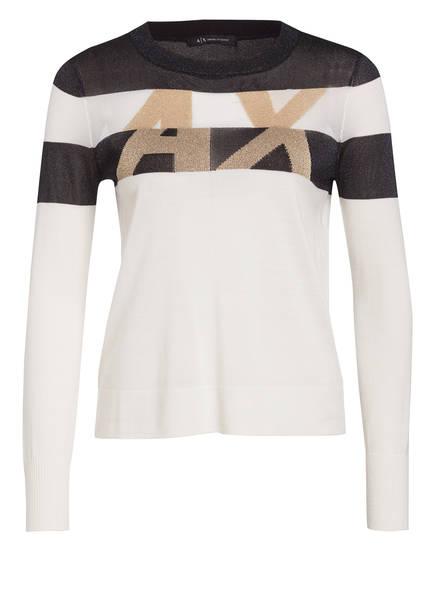 ARMANI EXCHANGE Pullover , Farbe: SCHWARZ/ ECRU/ GOLD (Bild 1)
