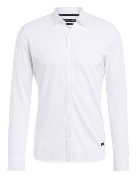 Marc O'Polo Jersey-Hemd Shaped Fit, Farbe: WEISS (Bild 1)