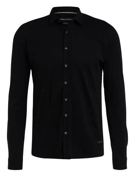 Marc O'Polo Jerseyhemd Shaped Fit, Farbe: SCHWARZ (Bild 1)