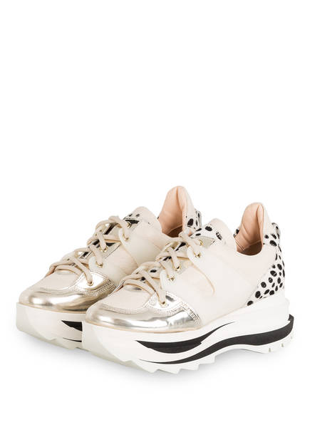 AGL ATTILIO GIUSTI LEOMBRUNI Plateau-Sneaker , Farbe: WEISS/ ECRU/ GOLD (Bild 1)