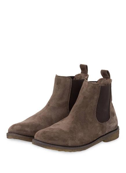 clic Chelsea-Boots mit Echtfellfutter, Farbe: BASKET CARBON/MARRON (Bild 1)