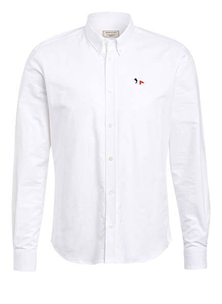 MAISON KITSUNÉ Oxford-Hemd Regular Fit, Farbe: WEISS (Bild 1)