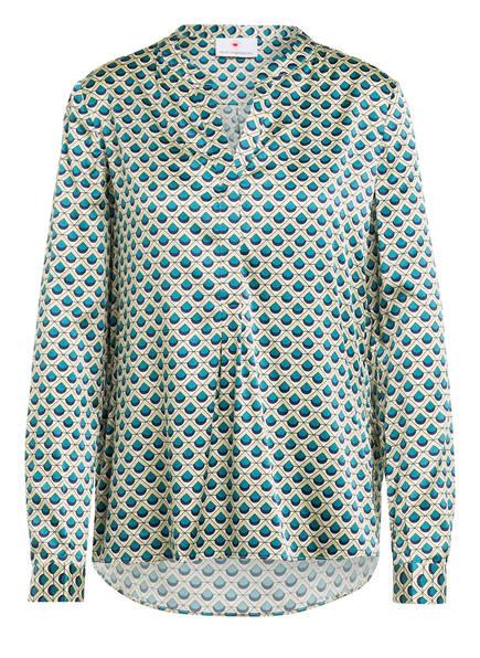 herzensangelegenheit Blusenshirt aus Seide, Farbe: CREME/ HELLGRÜN/ PETROL (Bild 1)