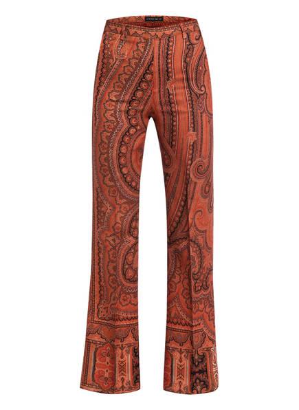 ETRO Wollhose mit Seidenanteil, Farbe: DUNKELORANGE/ DUNKELBRAUN (Bild 1)