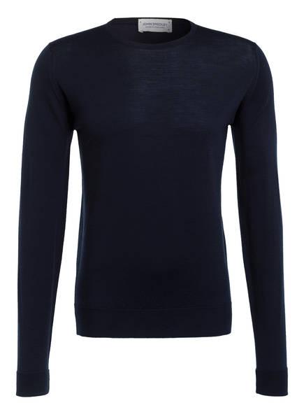 JOHN SMEDLEY Schurwoll-Pullover MARCUS, Farbe: DUNKELBLAU (Bild 1)