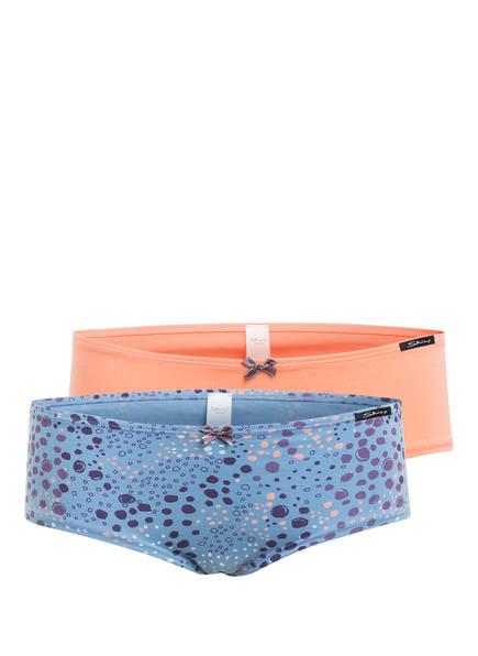 Skiny 2er-Pack Panties, Farbe: HELLBLAU/ HELLORANGE/ DUNKELBLAU (Bild 1)