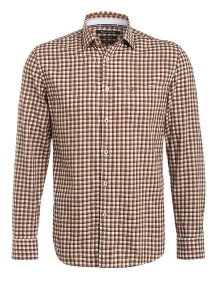 Marc O'Polo Hemd Regular Fit, Farbe: ECRU/ BRAUN/ SCHWARZ KARIERT (Bild 1)