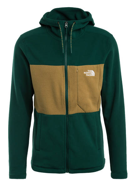 THE NORTH FACE Fleece-Hoodie BLOCKED TKA, Farbe: DUNKELGRÜN (Bild 1)