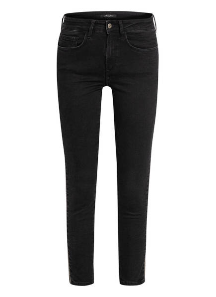 mavi Skinny Jeans ADRIANA mit Perlenbesatz, Farbe: SMOKE UPT EMBELISHED BLACK (Bild 1)