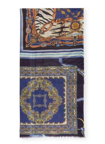 CODELLO Schal FOREVER BLUE, Farbe: BLAU/ HELLGELB/ DUNKELLILA (Bild 1)