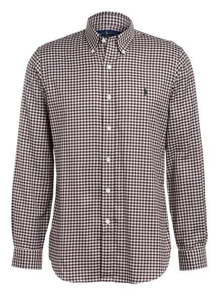 POLO RALPH LAUREN Hemd Custom Fit, Farbe: BRAUN/ WEISS (Bild 1)