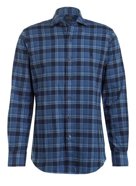POLO RALPH LAUREN Hemd Custom Fit, Farbe: DUNKELBLAU/ BLAU/ HELLBLAU (Bild 1)