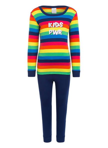 SCHIESSER Schlafanzug, Farbe: BLAU/ GELB/ GRÜN (Bild 1)