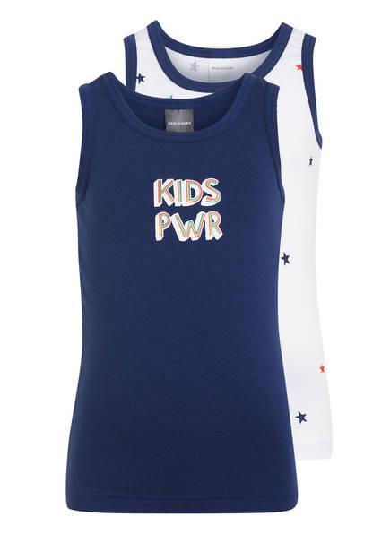 SCHIESSER 2er-Pack Unterhemden, Farbe: WEISS/ BLAU (Bild 1)