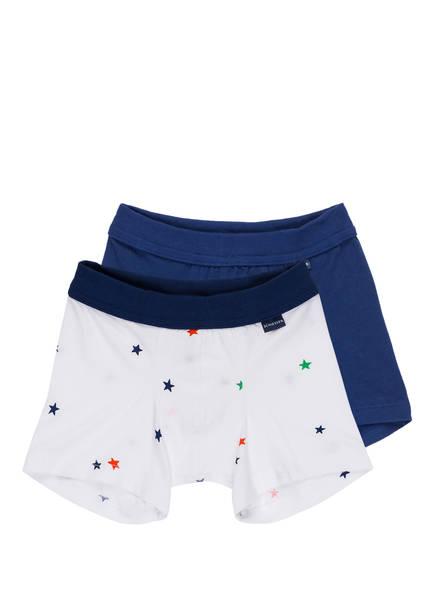 SCHIESSER 2er-Pack Boxershorts, Farbe: WEISS/ BLAU (Bild 1)