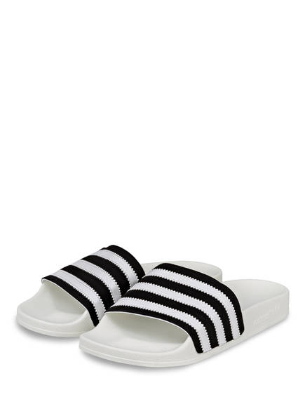 adidas Originals Badeschuhe ADILETTE, Farbe: WEISS/ SCHWARZ (Bild 1)