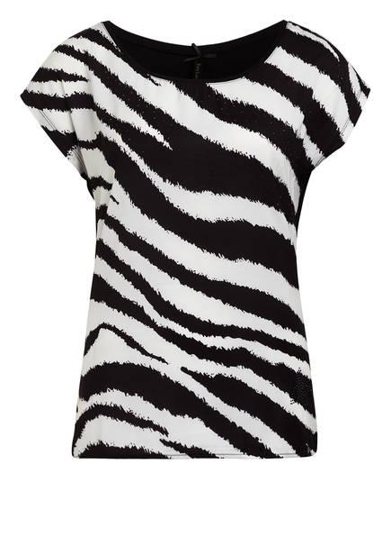 KEY LARGO Blusenshirt, Farbe: SCHWARZ/ WEISS (Bild 1)
