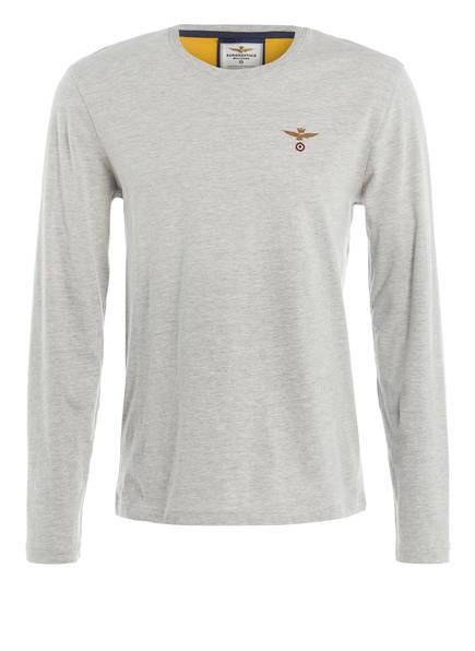 AERONAUTICA MILITARE Langarmshirt, Farbe: GRAU MELIERT (Bild 1)