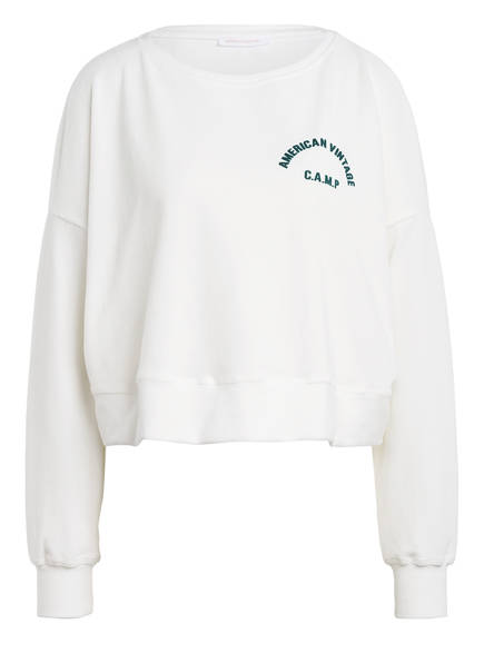 American Vintage Cropped-Pullover OLIGOOD, Farbe: WEISS (Bild 1)