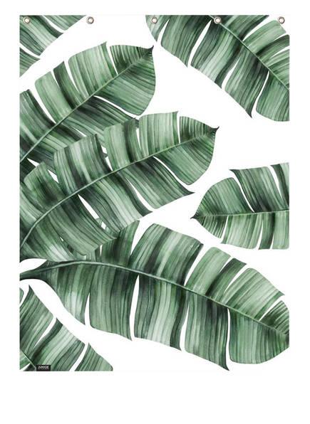 JUNIQE Duschvorhang, Farbe: WEISS/ GRÜN (Bild 1)