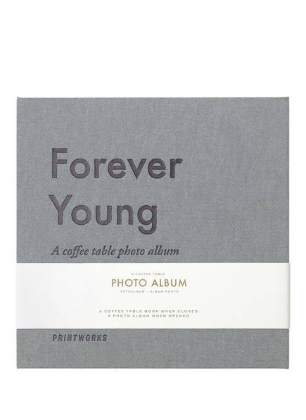PRINTWORKS Fotoalbum FOREVER YOUNG, Farbe: GRAU (Bild 1)