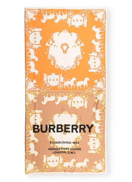 BURBERRY Seidentuch, Farbe: ORANGE/ GELB/ BEIGE (Bild 1)