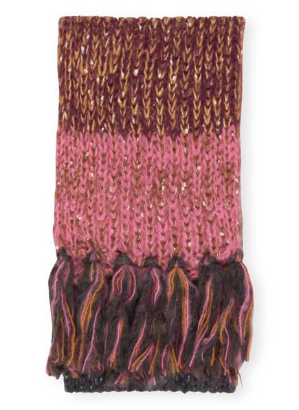 Barts Schal, Farbe: BLAUGRAU/ DUNKELORANGE/ DUNKELROT (Bild 1)