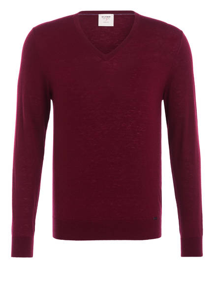 OLYMP Pullover Level Five body fit, Farbe: DUNKELROT (Bild 1)